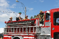 New Fire Truck in Parade - Click on Image to enlarge