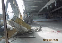 Roof Collapses Rink - Click on Image to enlarge